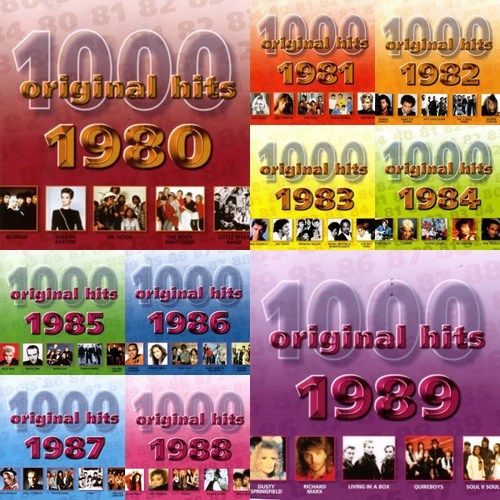 V. A. - 1000 Original Hits 1980-1989 (1982) - Rock ...